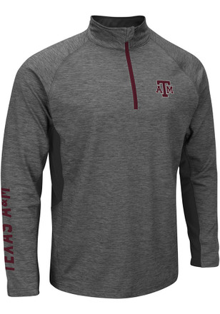 Colosseum Texas A&M Mens Grey Combat 1/4 Zip Performance Pullover