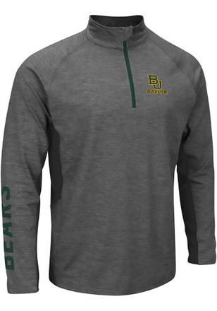 Colosseum Baylor Mens Grey Combat 1/4 Zip Performance Pullover