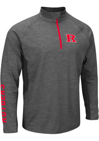 Rutgers Scarlet Knights Colosseum Combat 1/4 Zip Pullover - Charcoal