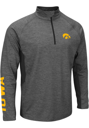 Colosseum Iowa Hawkeyes Mens Grey Combat 1/4 Zip Pullover
