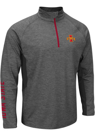 Colosseum Cyclones Mens Grey Combat 1/4 Zip Performance Pullover