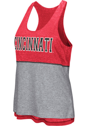 Colosseum Cincinnati Bearcats Womens Red Ross Tank Top