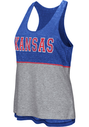 Colosseum Kansas Jayhawks Womens Blue Ross Tank Top