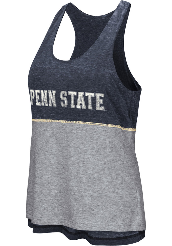 Colosseum Penn State Nittany Lions Juniors Navy Blue Ross Tank Top - Image 1
