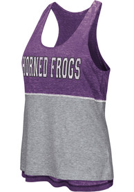 Colosseum TCU Horned Frogs Juniors Purple Ross Tank Top