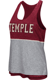 Colosseum Temple Owls Juniors Red Ross Tank Top