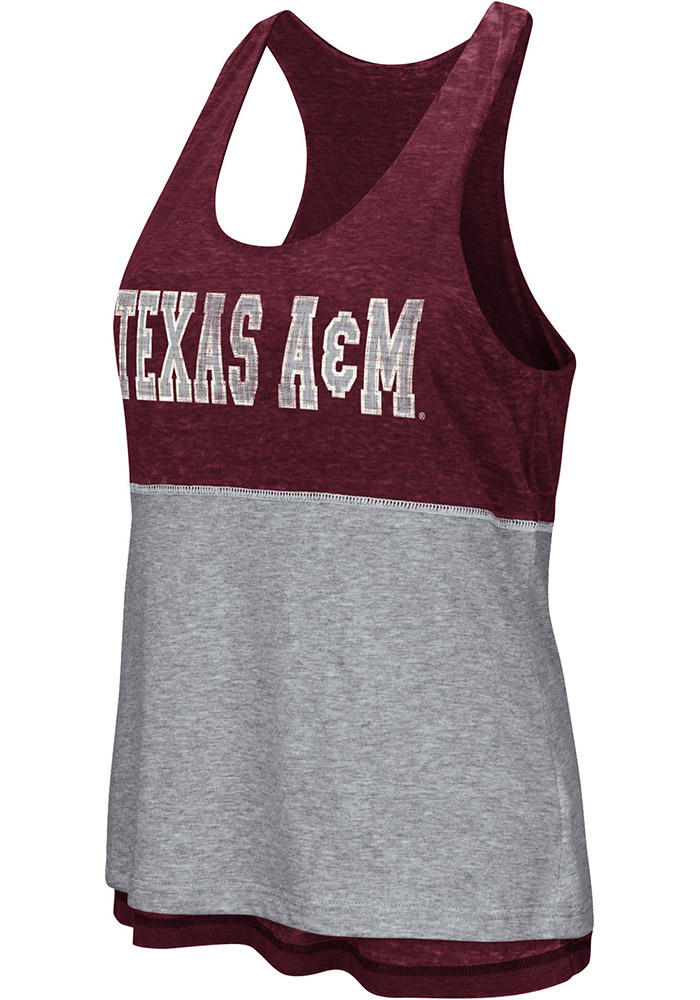 Colosseum Texas A&M Aggies Juniors Maroon Ross Tank Top - Image 1