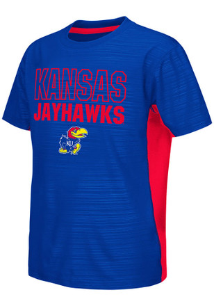 Colosseum Kansas Jayhawks Kids Blue In The Vault T-Shirt