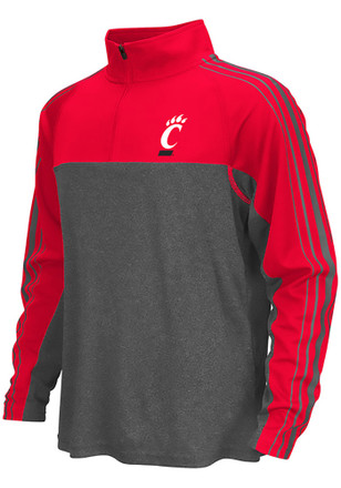 Colosseum Cincinnati Bearcats Kids Missile Grey Quarter Zip Shirt