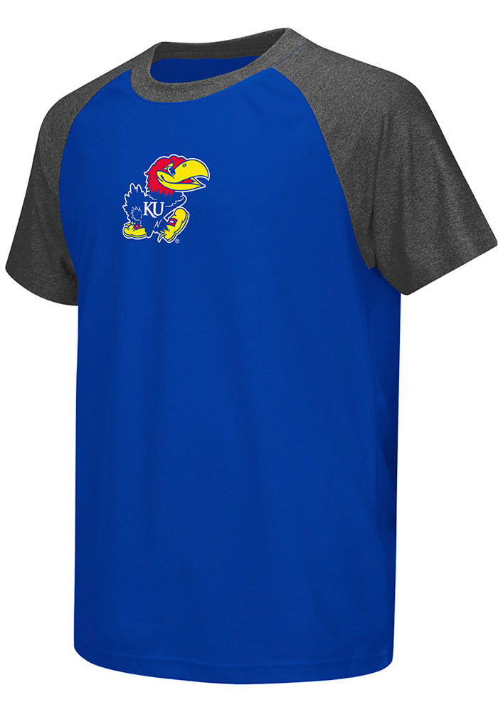 Colosseum Kansas Jayhawks Youth Blue Get Out Short Sleeve T-Shirt - Image 1
