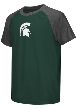 Colosseum MSU Youth Green Get Out Performance T-Shirt
