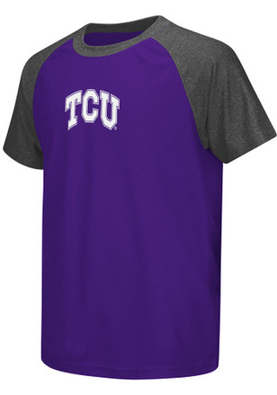 Colosseum Horned Frogs Youth Purple Get Out Performance T-Shirt