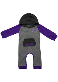 Colosseum TCU Horned Frogs Baby Grey Robin Hood One Piece