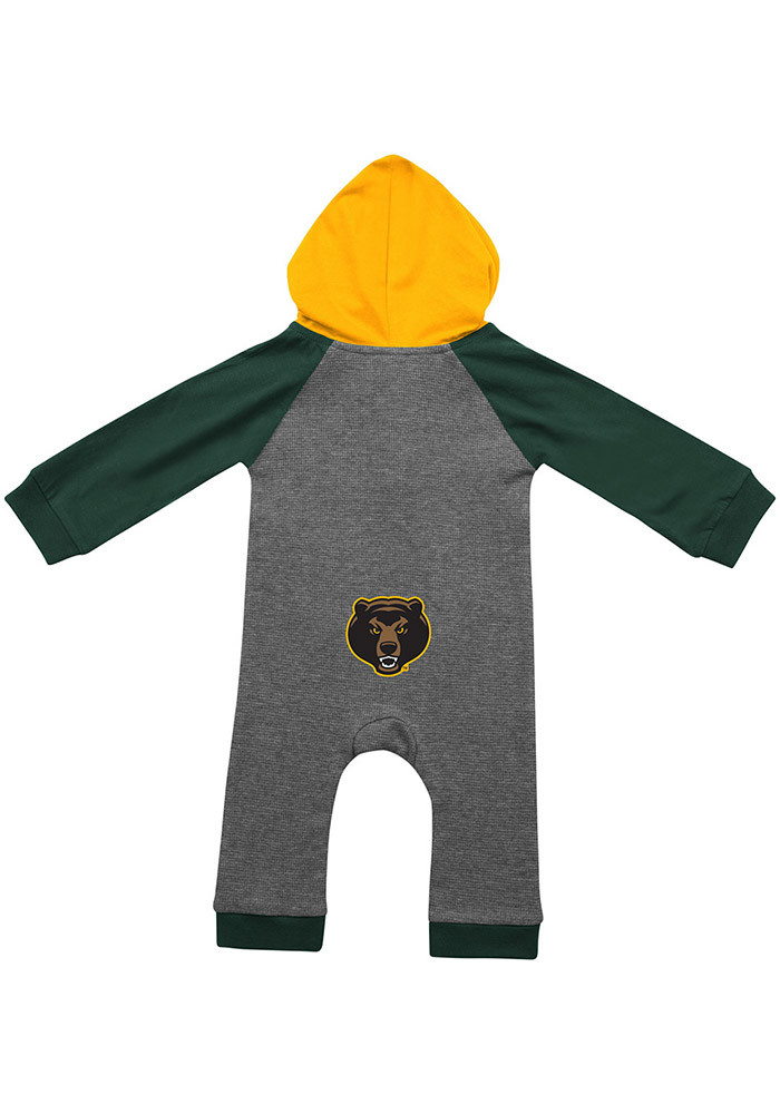 Colosseum Baylor Bears Baby Grey Robin Hood Long Sleeve Creeper - Image 2