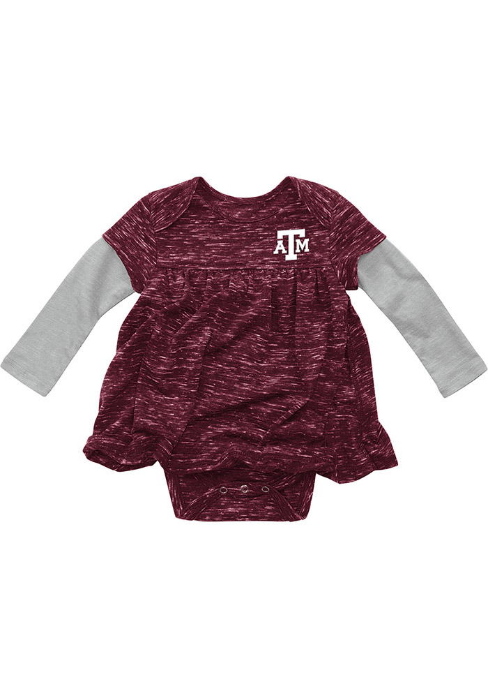 Colosseum Texas A&M Aggies Baby Girls Maroon Beverly Hills Short Sleeve Dress - Image 1