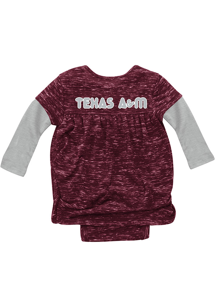 Colosseum Texas A&M Aggies Baby Girls Maroon Beverly Hills Short Sleeve Dress - Image 2