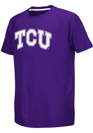 Colosseum Horned Frogs Youth Purple Kramer Performance T-Shirt