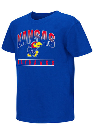 Colosseum Kansas Jayhawks Kids Blue Golden Boy T-Shirt
