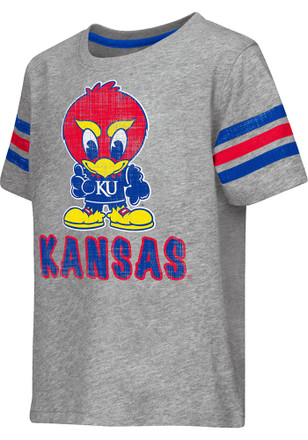 Colosseum Kansas Jayhawks Toddler Grey Desparado T-Shirt