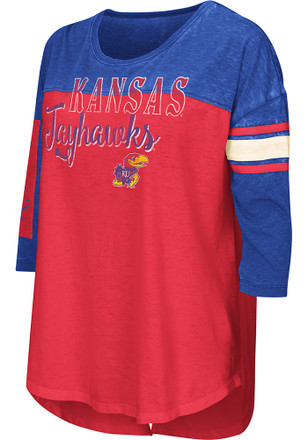Colosseum KU Jayhawks Womens I'll Be There For You Red T-Shirt