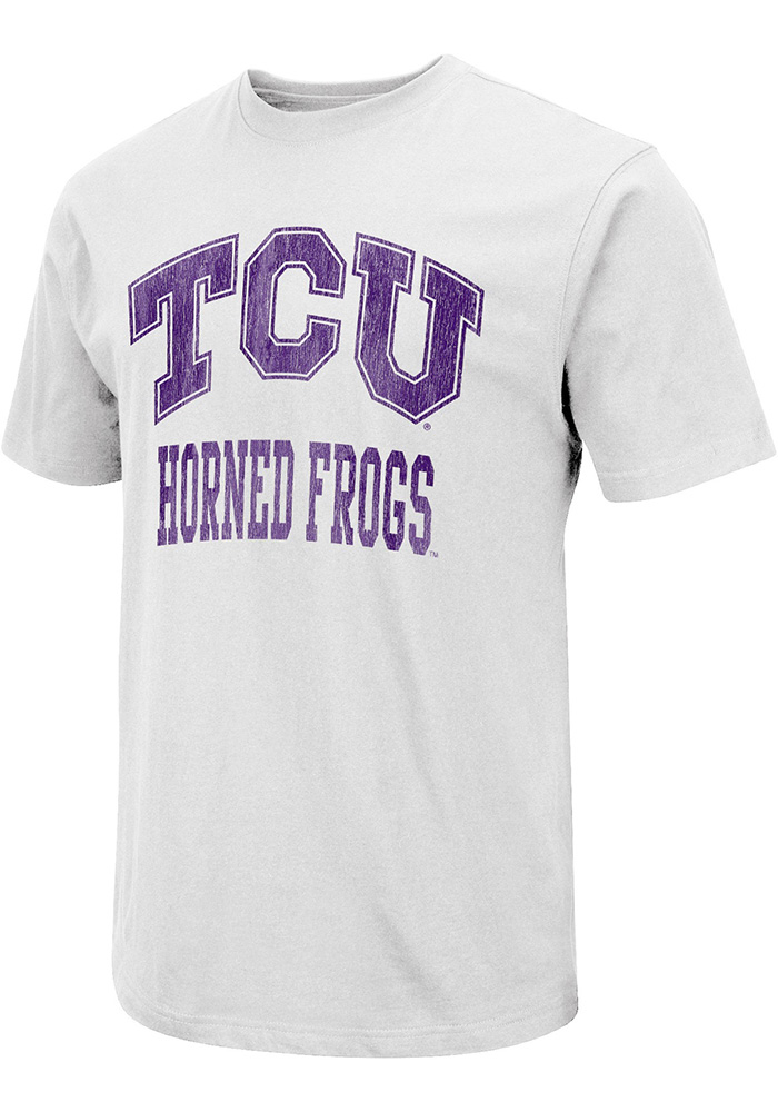 Colosseum TCU Horned Frogs White Distress Arch Tee