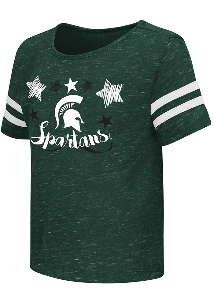 Colosseum Michigan State Spartans Toddler Girls Green Janice Short Sleeve T-Shirt - Image 1