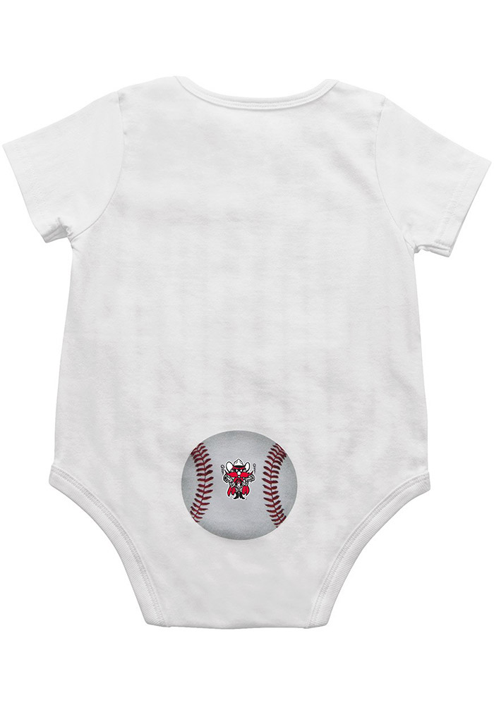 Colosseum Texas Tech Red Raiders Baby White Fast Ball Short Sleeve One Piece - Image 2