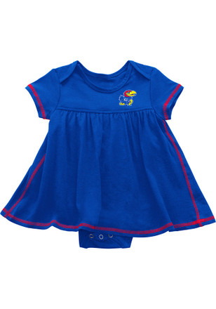 Colosseum Kansas Jayhawks Baby Girls Blue Mac And Cheese Dress