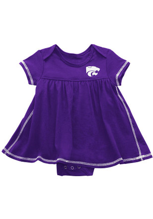 Colosseum K-State Wildcats Baby Girls Purple Mac And Cheese Dress