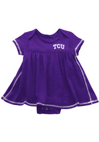 TCU Horned Frogs Baby Girls Colosseum Mac And Cheese Dress - Purple