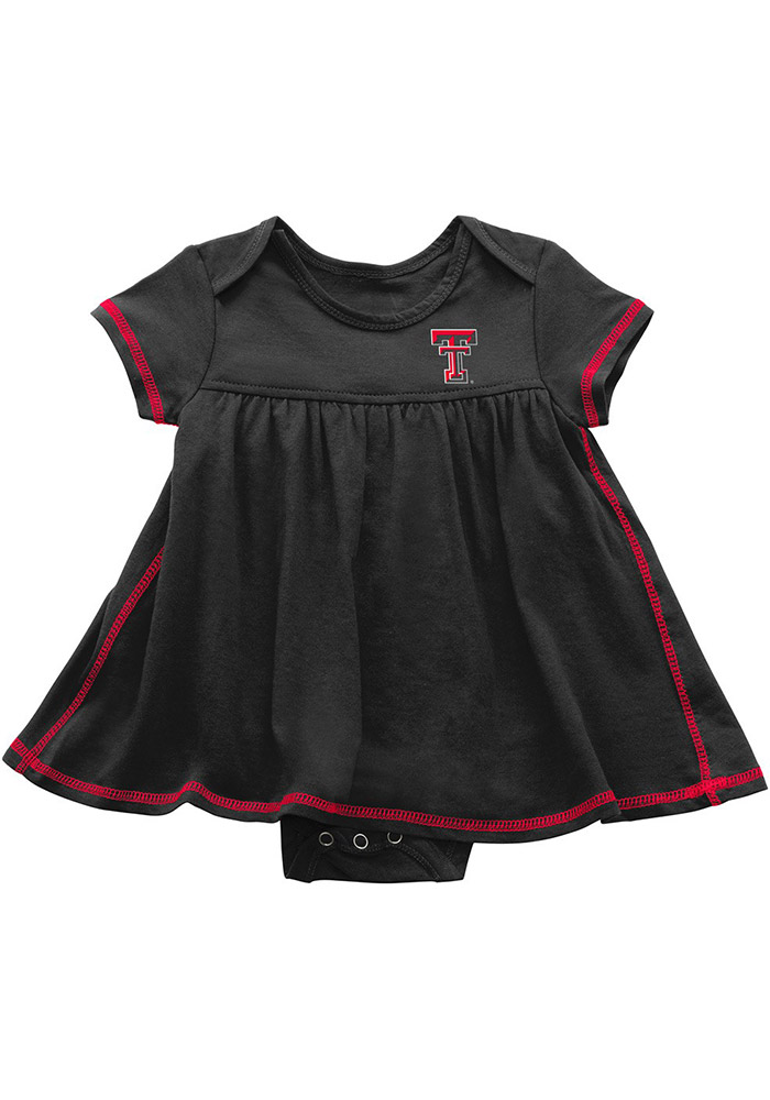 Colosseum Texas Tech Red Raiders Baby Girls Red Mac And Cheese Short Sleeve Dress - Image 1