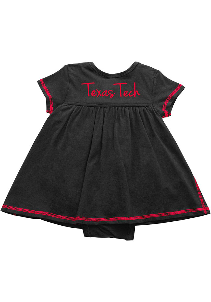 Colosseum Texas Tech Red Raiders Baby Girls Red Mac And Cheese Short Sleeve Dress - Image 2