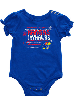 Colosseum Kansas Jayhawks Baby Blue Friends Creeper
