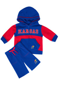 Kansas Jayhawks Infant Colosseum Midfield Top and Bottom - Blue