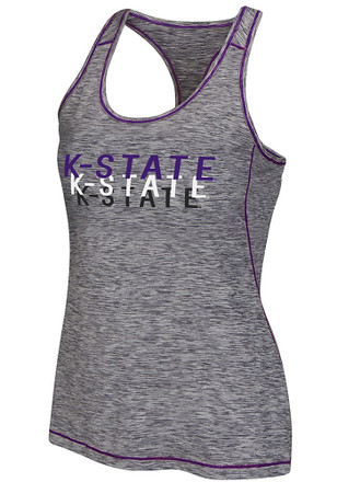 Colosseum K-State Wildcats Womens Grey Race Course Tank Top