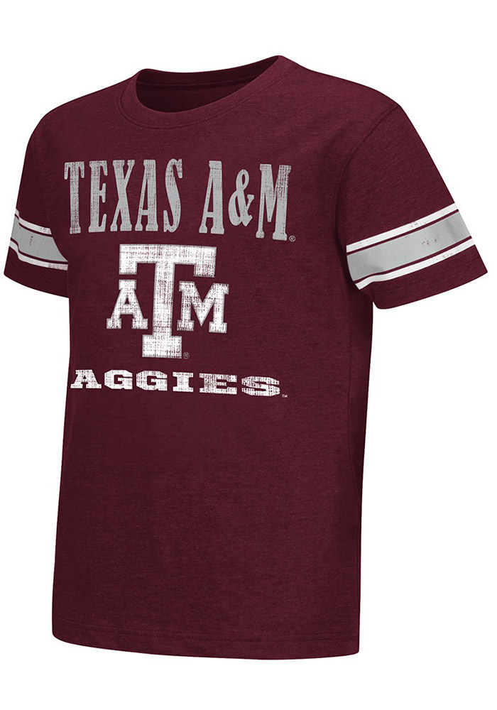 Colosseum Texas A&M Aggies Youth Maroon Free Agent T-Shirt