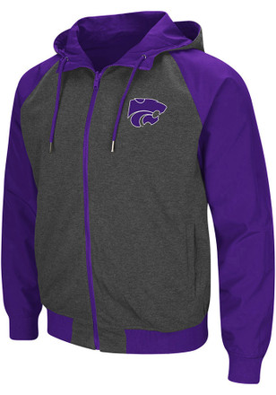 Colosseum K-State Wildcats Mens Purple Bobs Light Weight Jacket