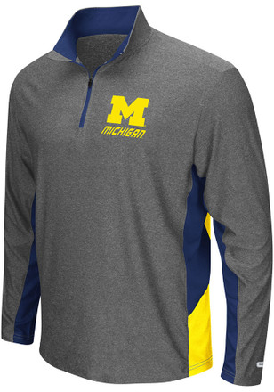 Colosseum Michigan Wolverines Mens Grey The Executive 1/4 Zip Pullover
