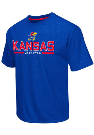 Colosseum Kansas Jayhawks Mens Blue In The Vault Tee