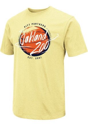 Colosseum Pitt Panthers Mens Gold Oakland Zoo Tee