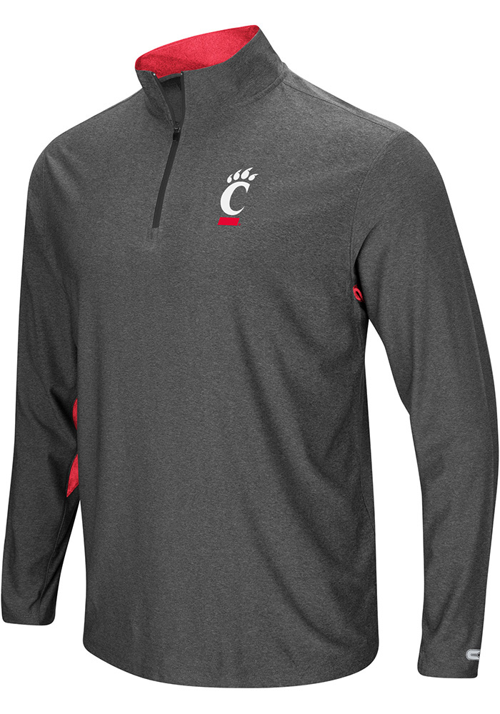 Colosseum Cincinnati Bearcats Mens Grey Sweet Spot 1/4 Zip Pullover