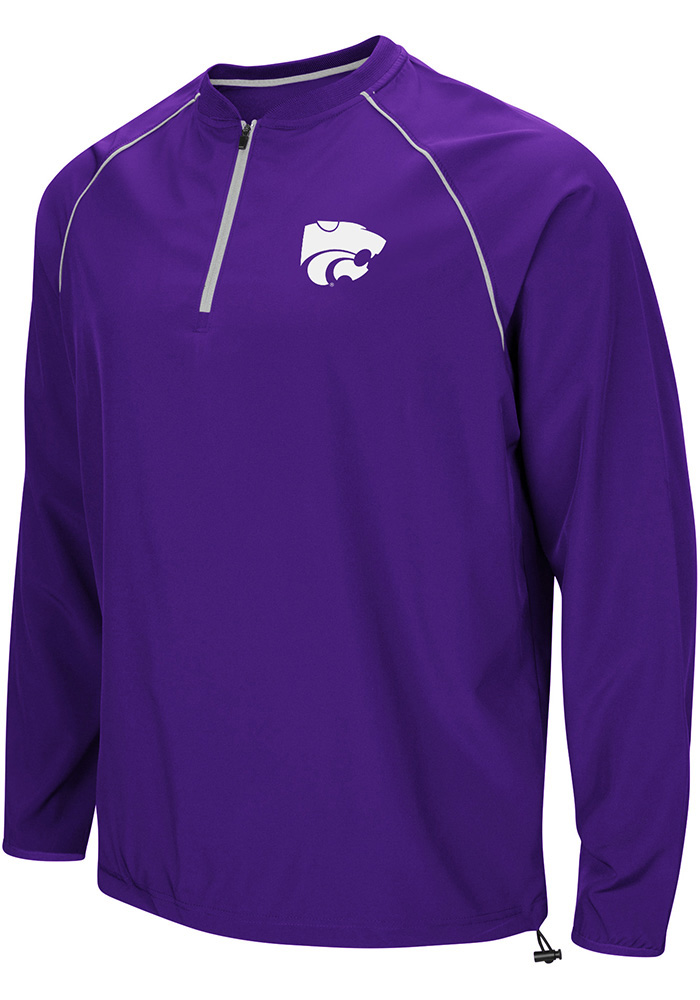 Colosseum K-State Wildcats Mens Purple The Bigs Pullover Jackets - Image 1