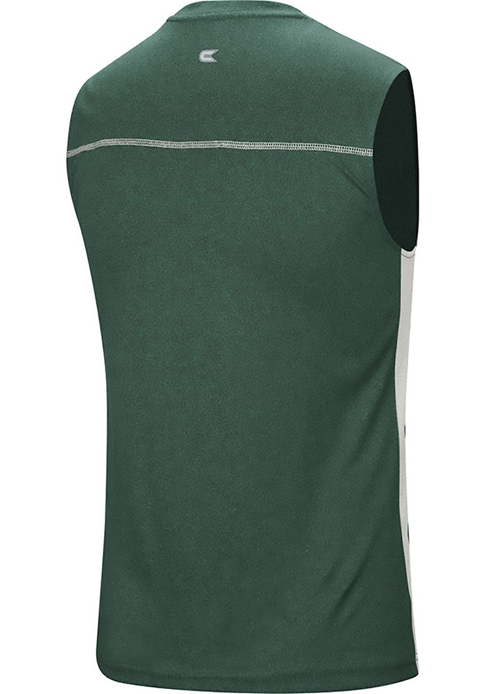 Colosseum Michigan State Spartans Mens Green Hanging Curveball Short Sleeve Tank Top - Image 2