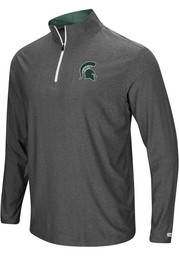 Colosseum Michigan State Spartans Mens Grey Sweet Spot Long Sleeve 1/4 Zip Pullover