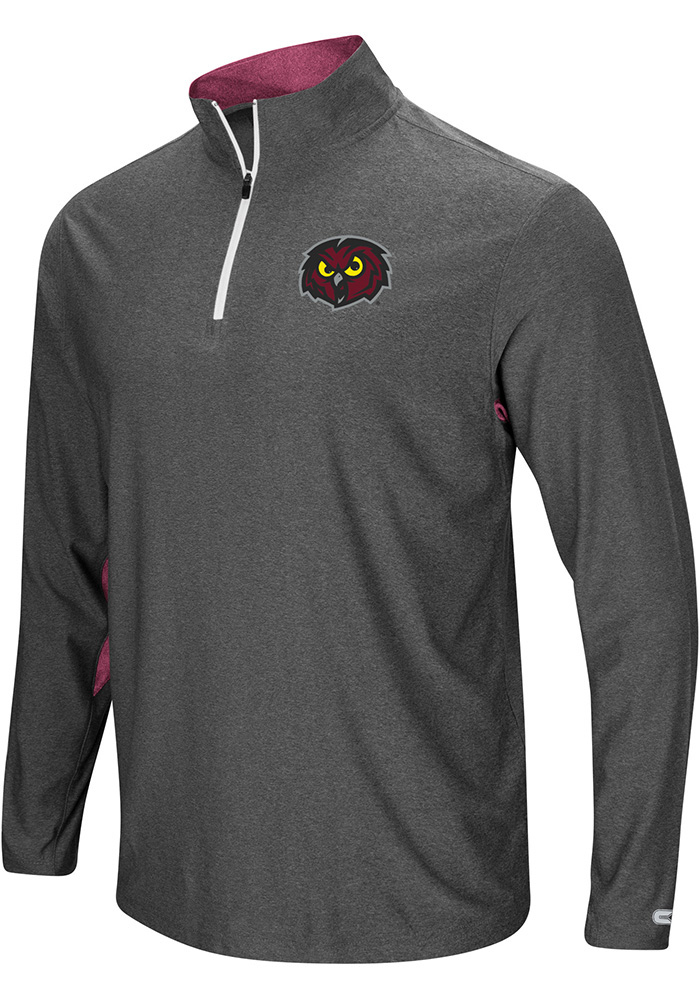 Colosseum Temple Owls Mens Grey Sweet Spot 1/4 Zip Pullover