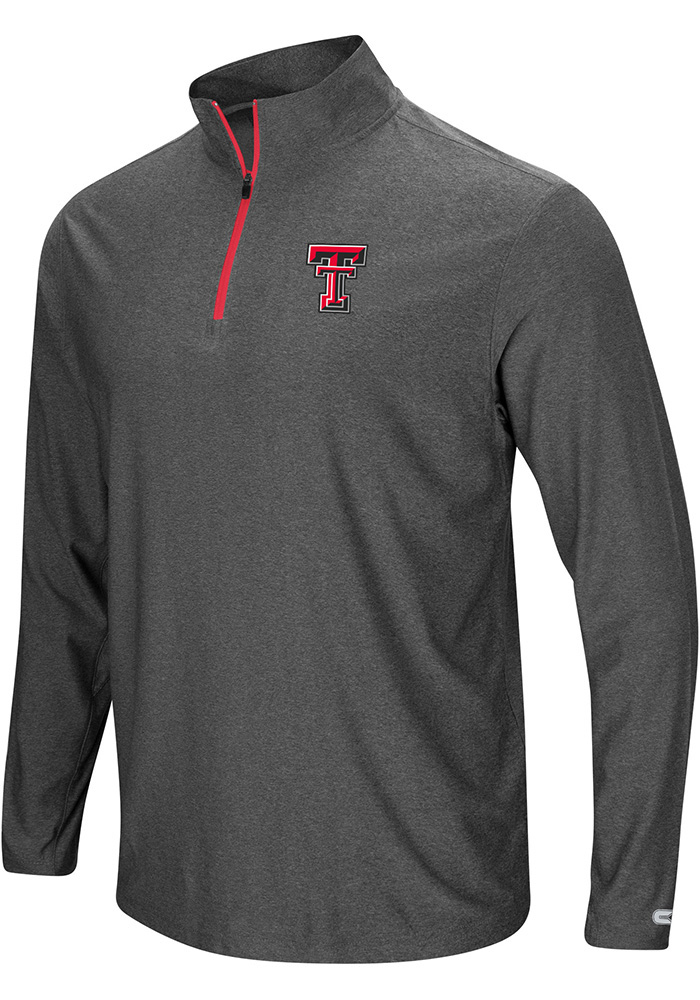 Colosseum Texas Tech Red Raiders Mens Grey Sweet Spot 1/4 Zip Pullover