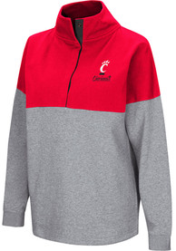 Cincinnati Bearcats Womens Colosseum Breakthrough 1/4 Zip Pullover - Black