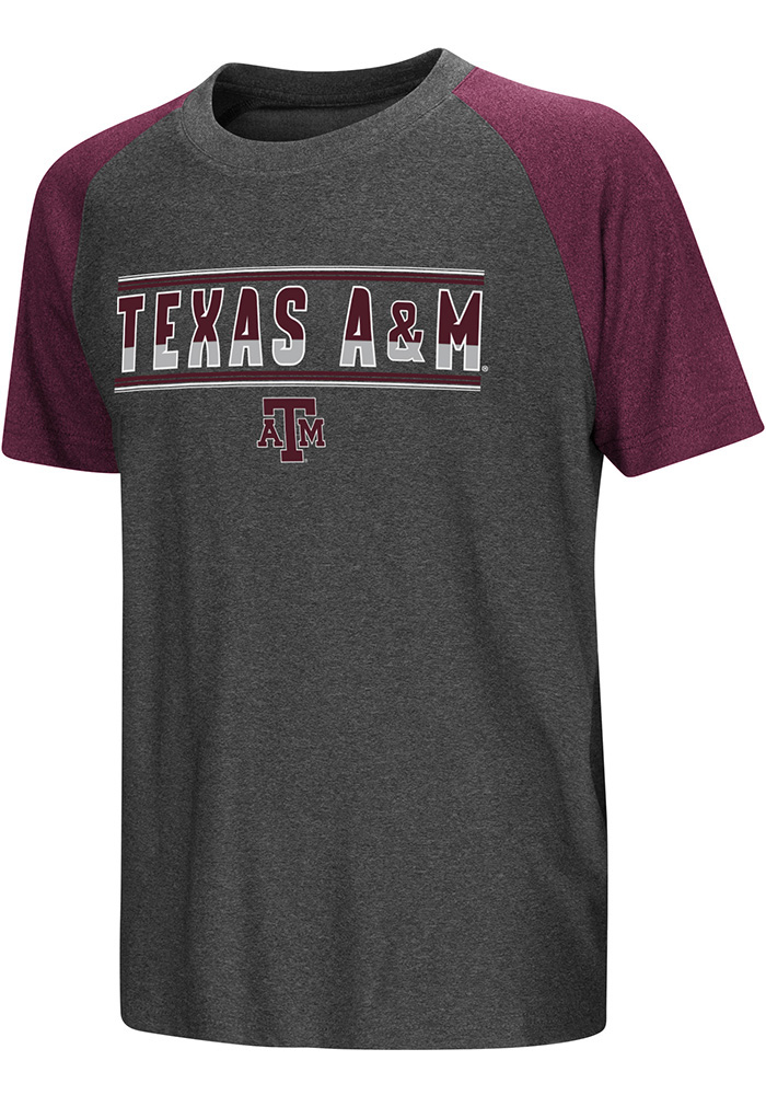 Colosseum Texas A&M Aggies Youth Grey Scotty Short Sleeve T-Shirt - Image 1