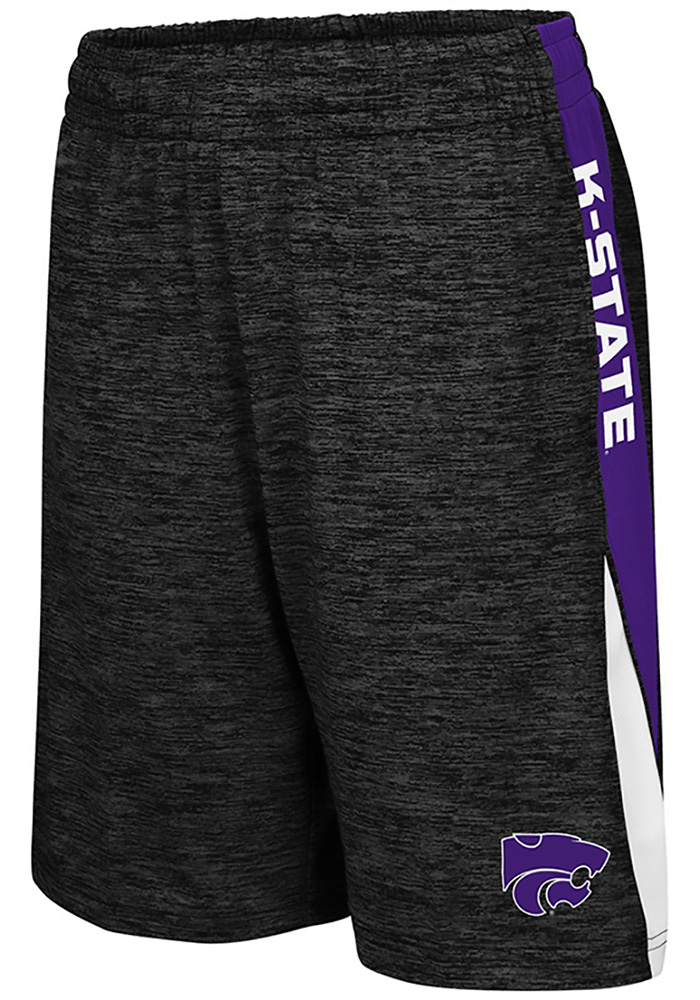 Colosseum K-State Wildcats Youth Black The Jet Shorts - Image 1