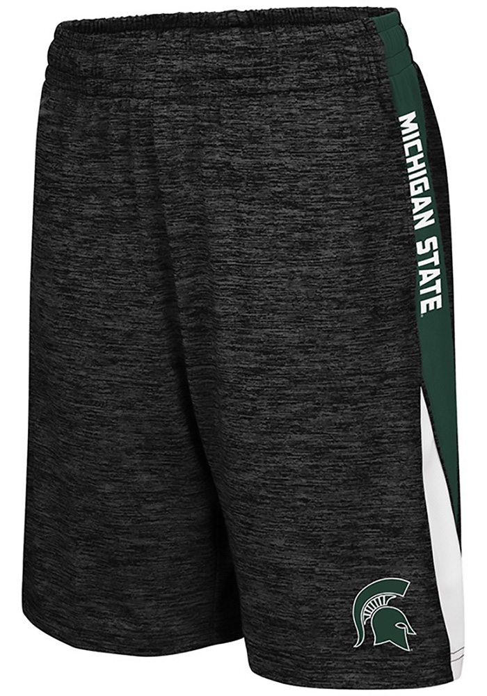 Colosseum Michigan State Spartans Youth Black The Jet Shorts - Image 1